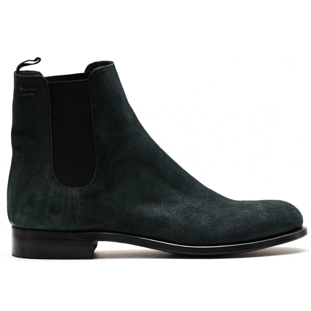 the last conspiracy MARCO waxed suede Chelsea Boot 054 Bottle green