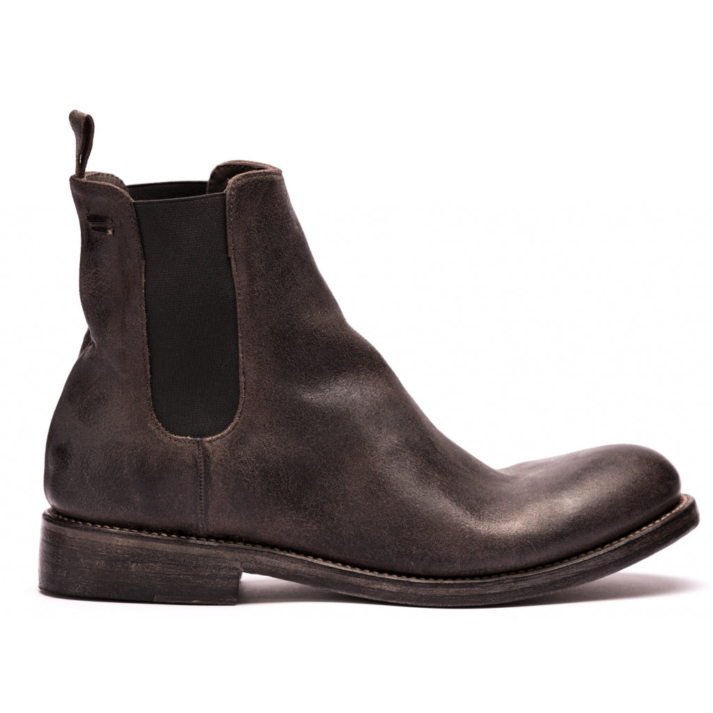 the last conspiracy MARCO waxed suede polish Chelsea Boot 080 Mouse