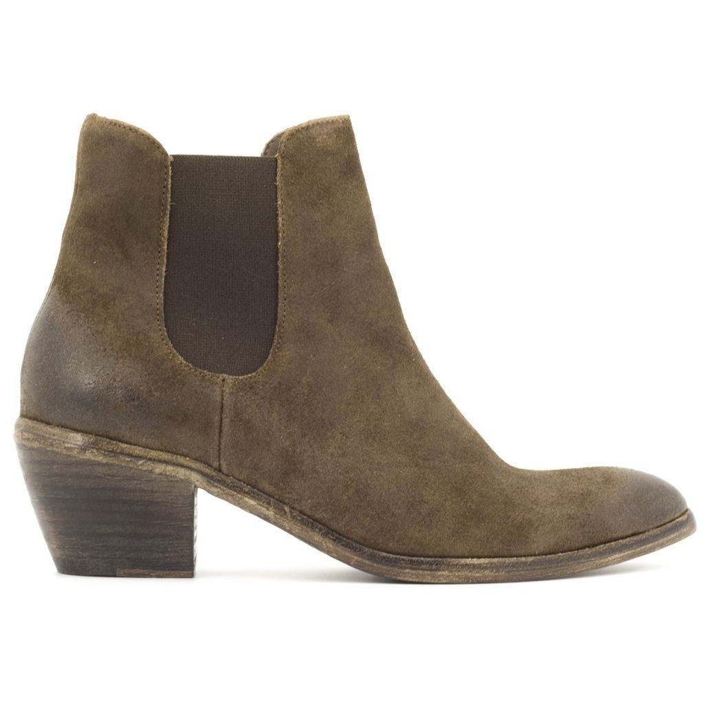 the last conspiracy MARZIA waxed suede Chelsea Boot 010 Tobacco