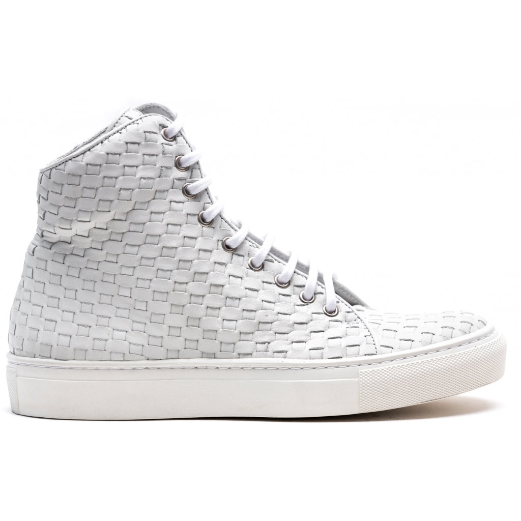 the last conspiracy MOMO interlace High Top Sneaker 036 White