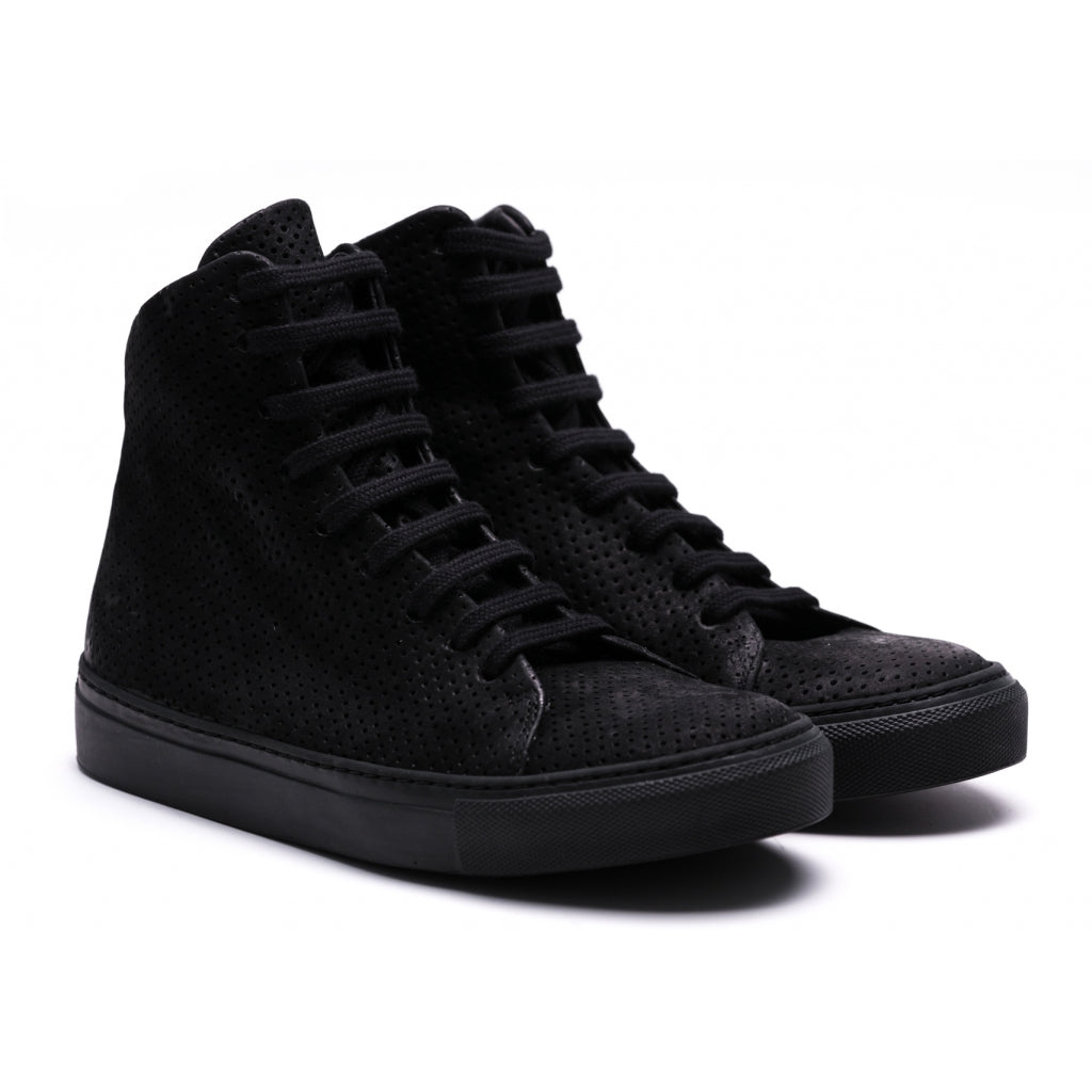 the last conspiracy MOMO mat High Top Sneaker 001 Black