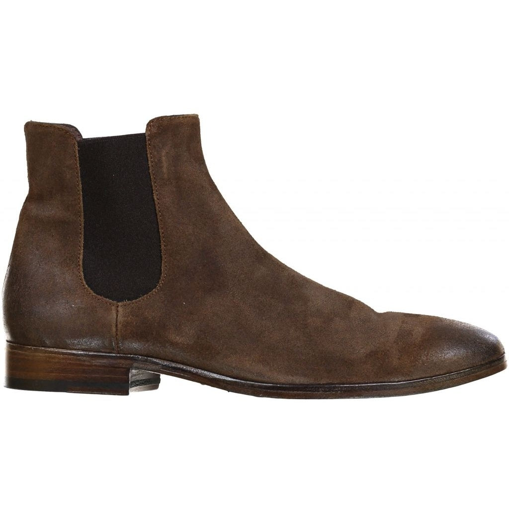 the last conspiracy NANNI waxed suede Chelsea Boot 010 Tobacco