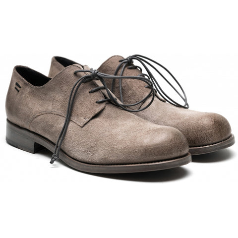 the last conspiracy NARFE waxed suede Laced Shoe 086 Light Grey