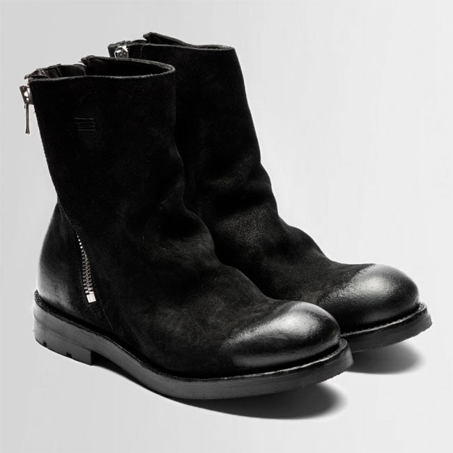 the last conspiracy NICOLITA waxed suede Boot 001 Black