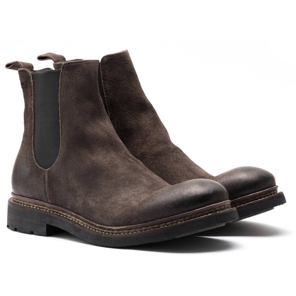 the last conspiracy NJORD waxed suede Chelsea Boot 080 Mouse