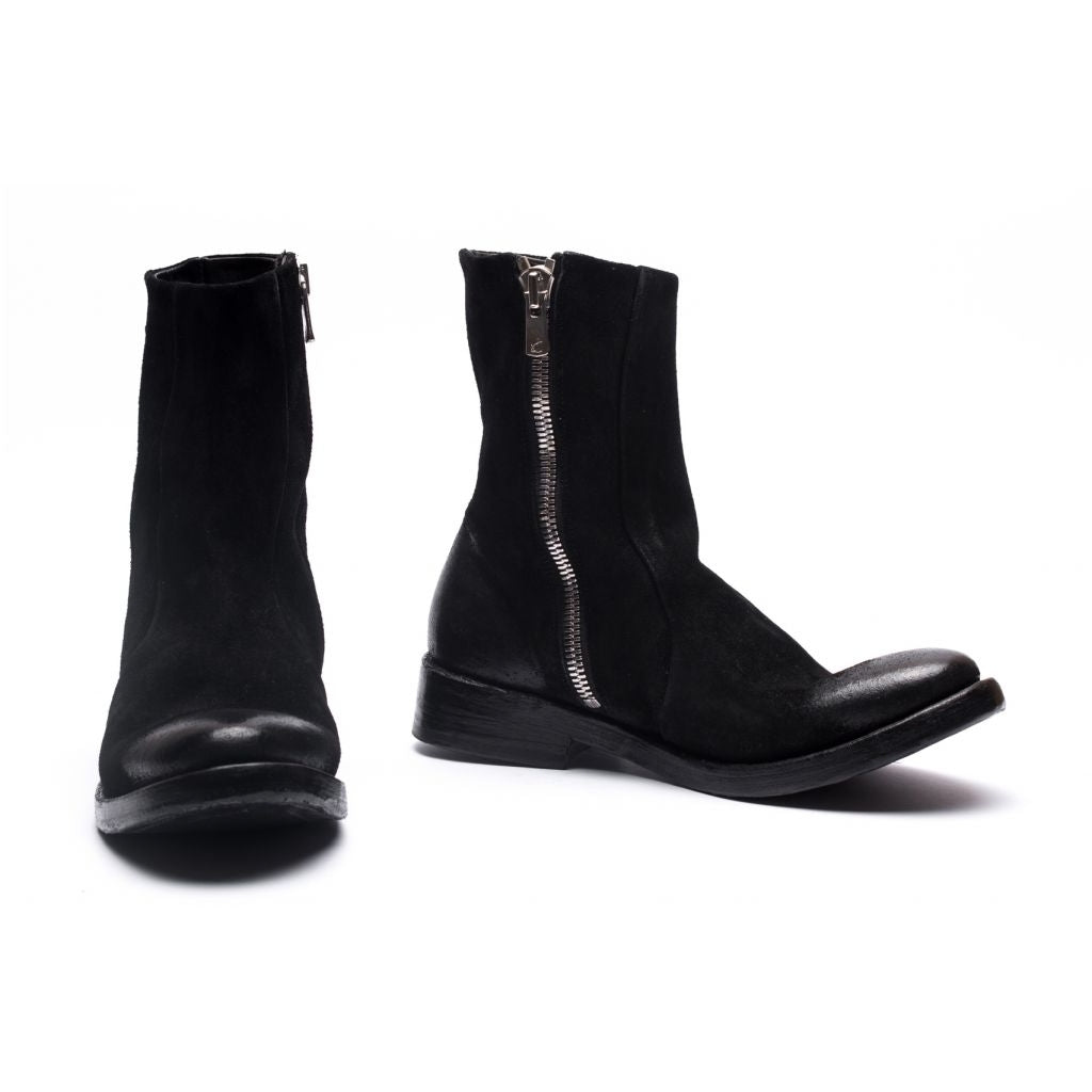 the last conspiracy OBA waxed suede Low Zip Boot 001 Black