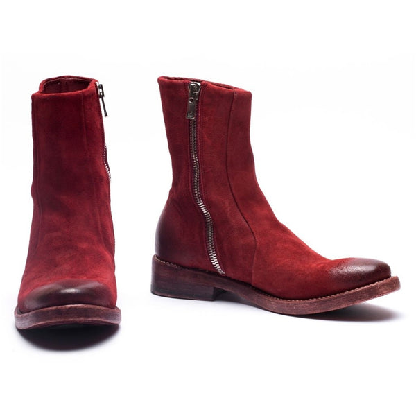 the last conspiracy OBA waxed suede Low Zip Boot 048 Oxblood