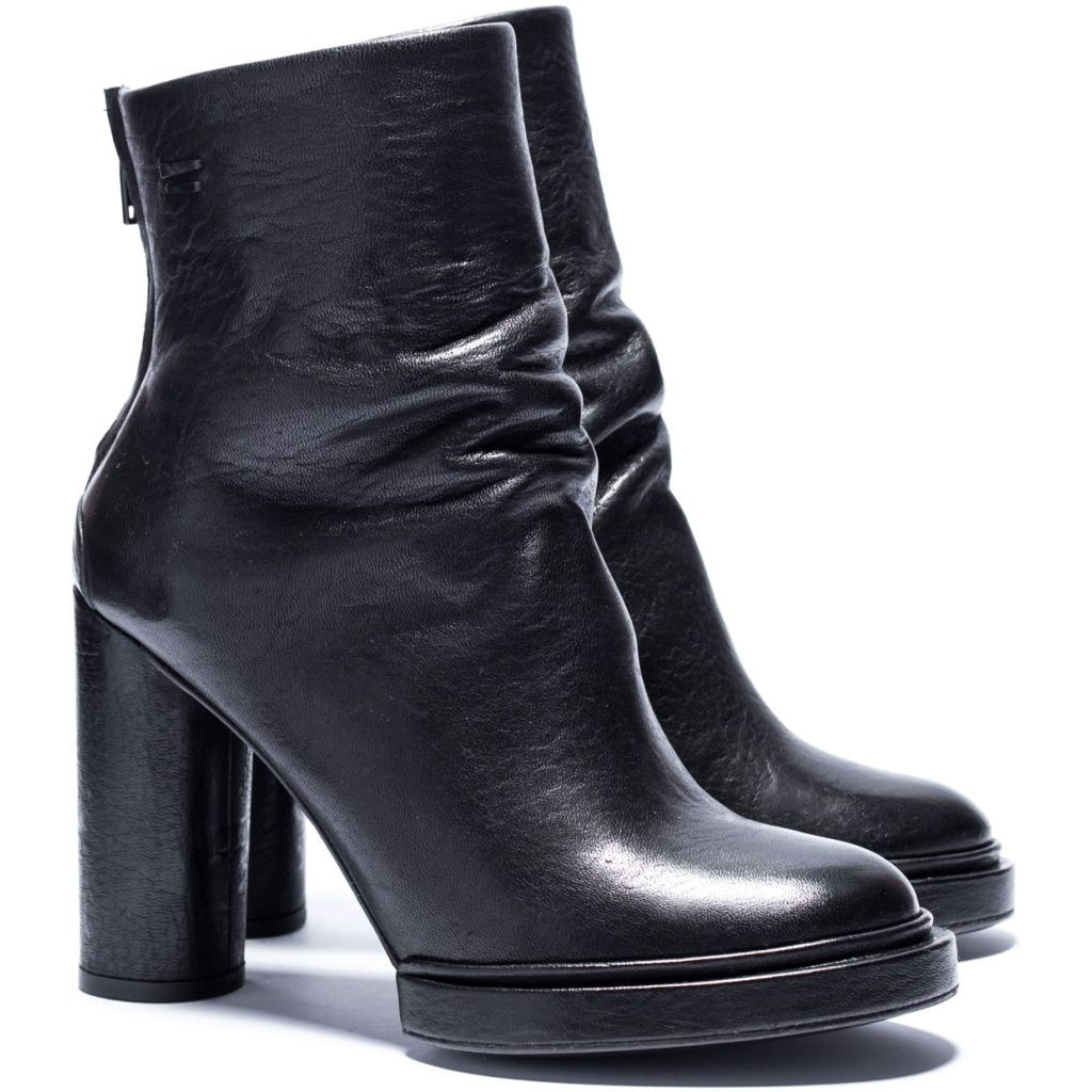 the last conspiracy ODIE re waxed High Heel Boot 001 Black
