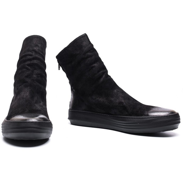 the last conspiracy PEDRO waxed suede Uncontructed 001 Black
