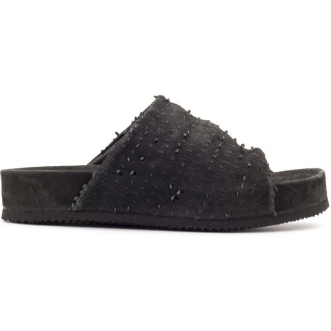 the last conspiracy PEG perforated Sandal 001 Black