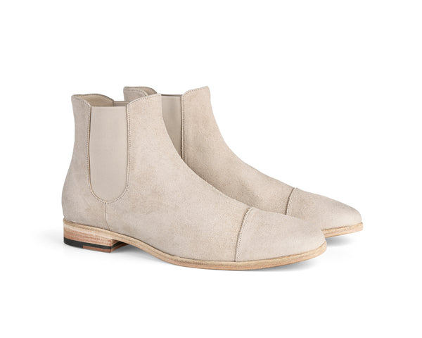 the last conspiracy PEPPINO waxed suede Chelsea Boot 002 Grey