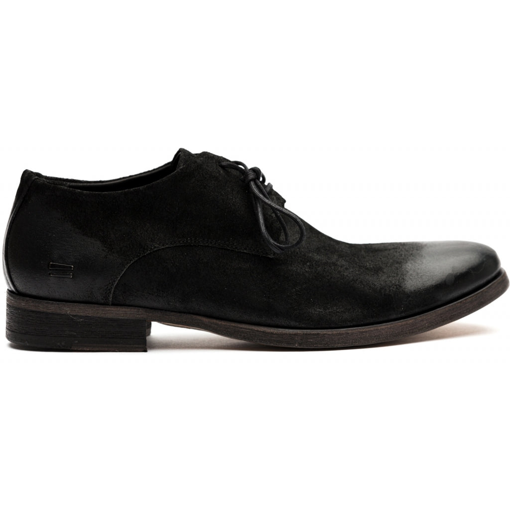 the last conspiracy PERDUE waxed suede Laced Shoe 001 Black