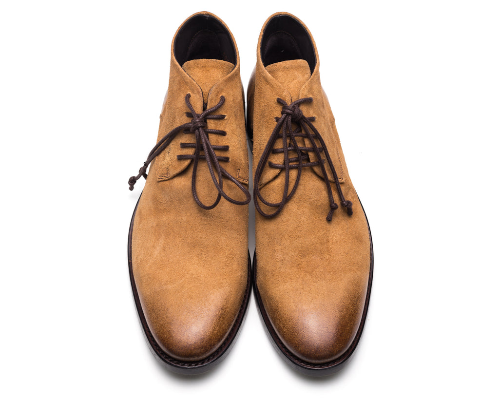 the last conspiracy POL waxed suede Laced Shoe 077 Mustard