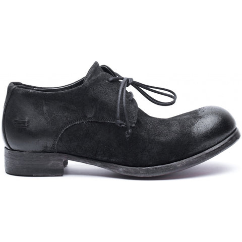 the last conspiracy RIPLEY waxed suede Laced Shoe 001 Black
