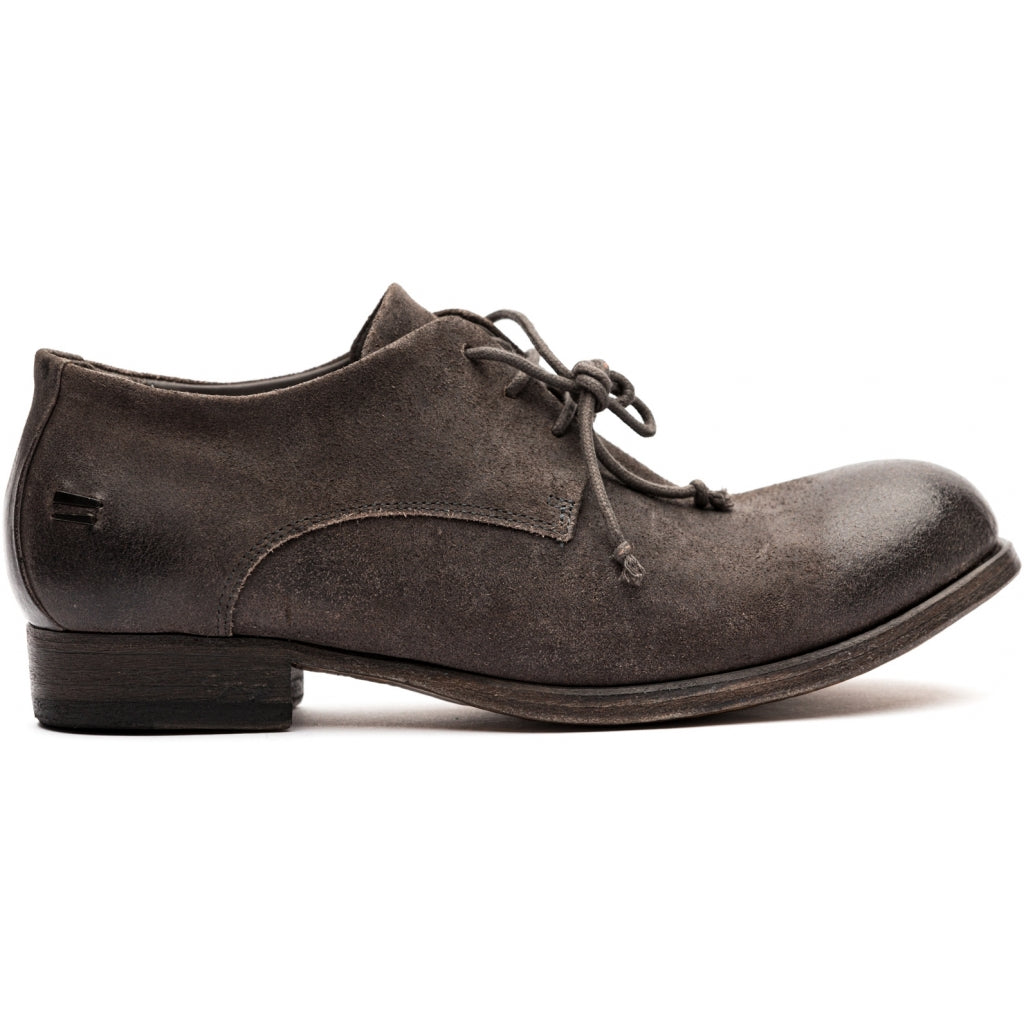 the last conspiracy RIPLEY waxed suede Laced Shoe 080 Mouse