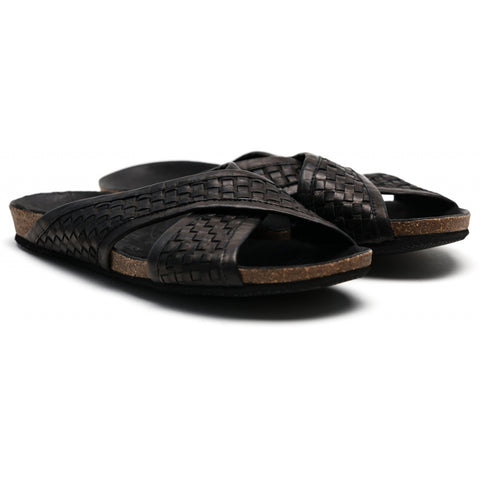 the last conspiracy RUI interlace Sandal 001 Black