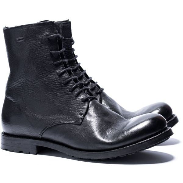 the last conspiracy SEPPI re waxed Laced Boot 001 Black