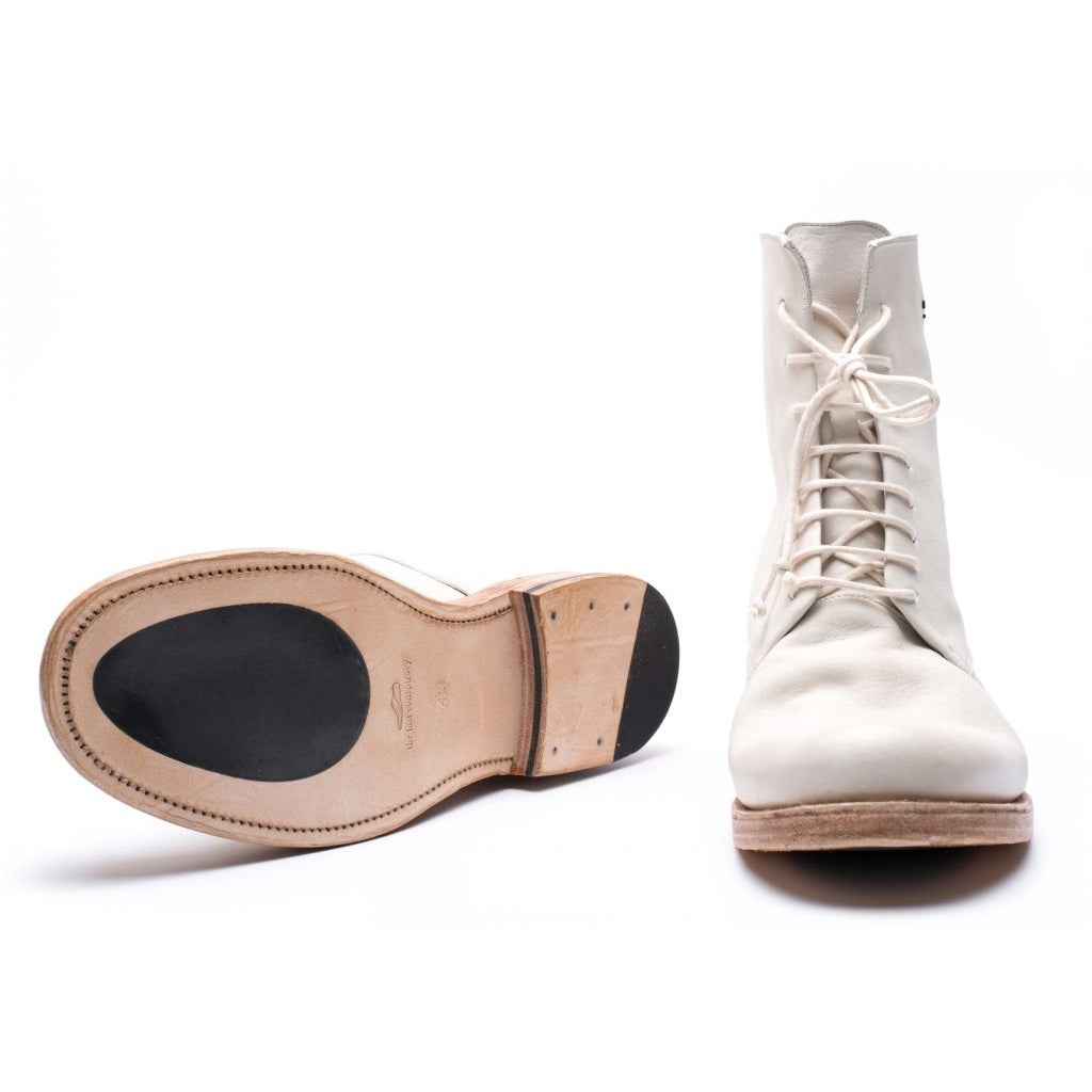 the last conspiracy SEPPO re waxed leather sole Laced Boot 036 White