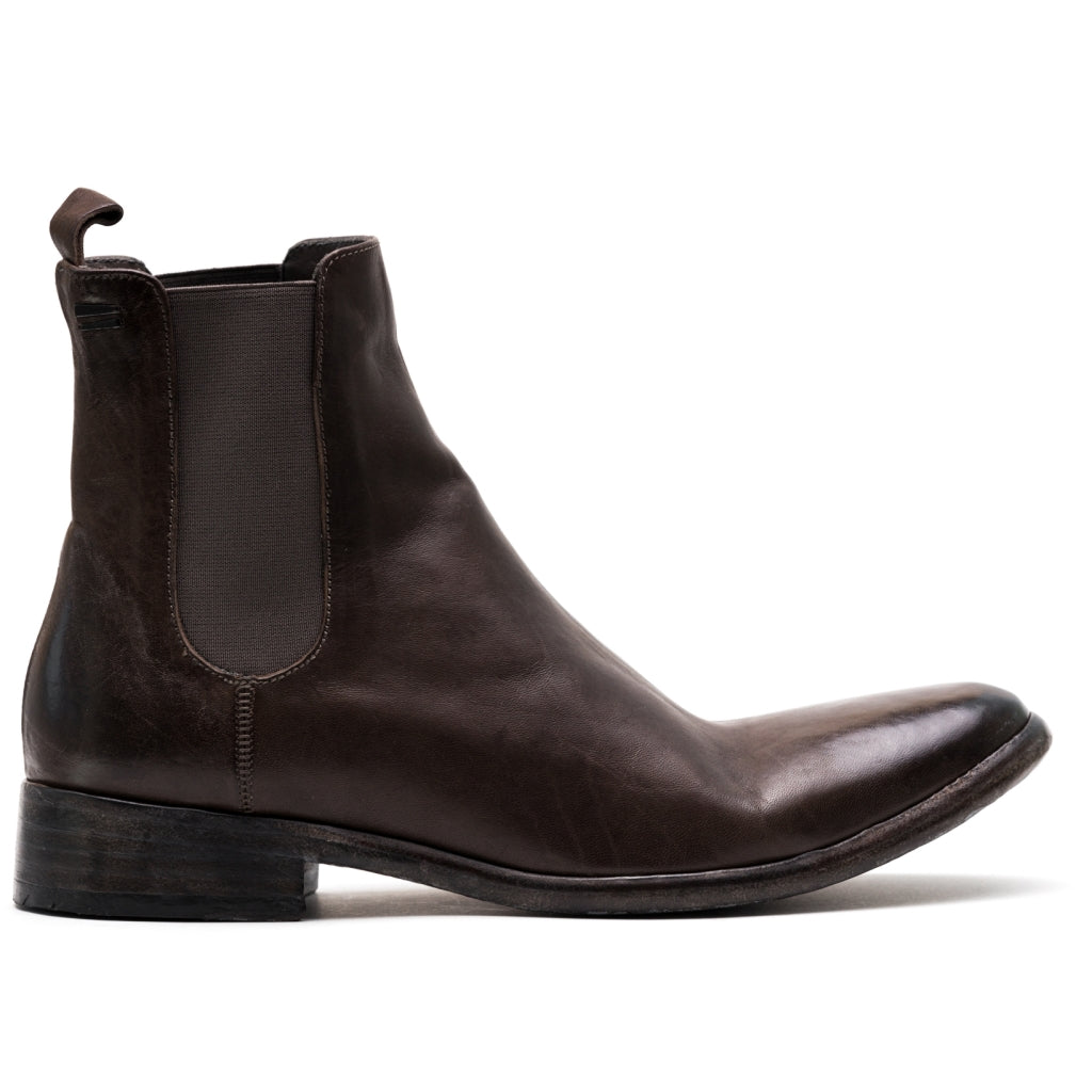 the last conspiracy SHANE re waxed Chelsea Boot 068 Dark Grey *new*