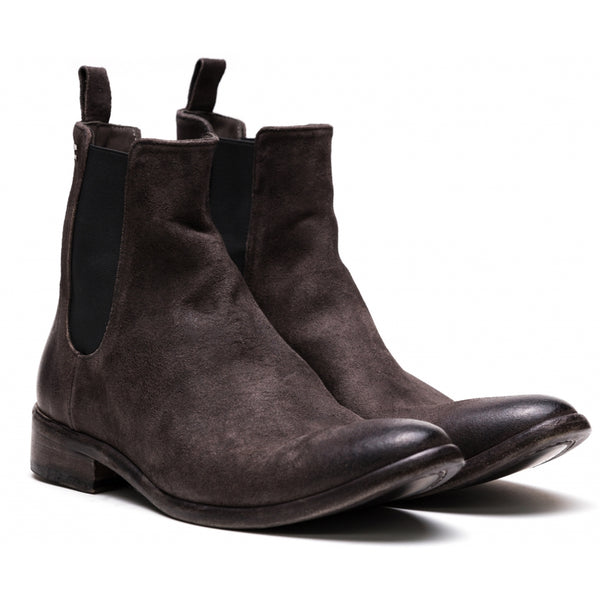 the last conspiracy SHANE waxed suede Chelsea Boot 080 Mouse