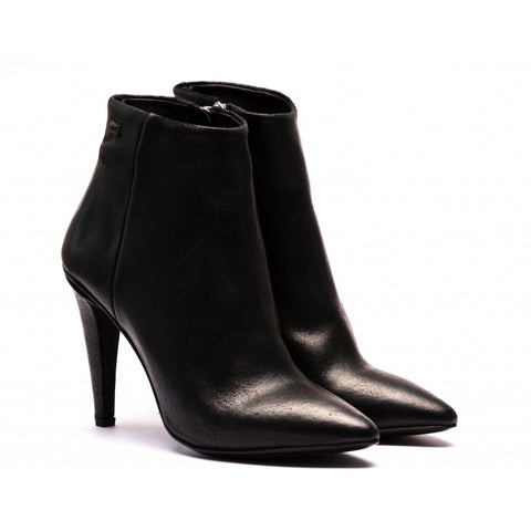 the last conspiracy SHIMA waxed suede polish Heel Boot 001 Black