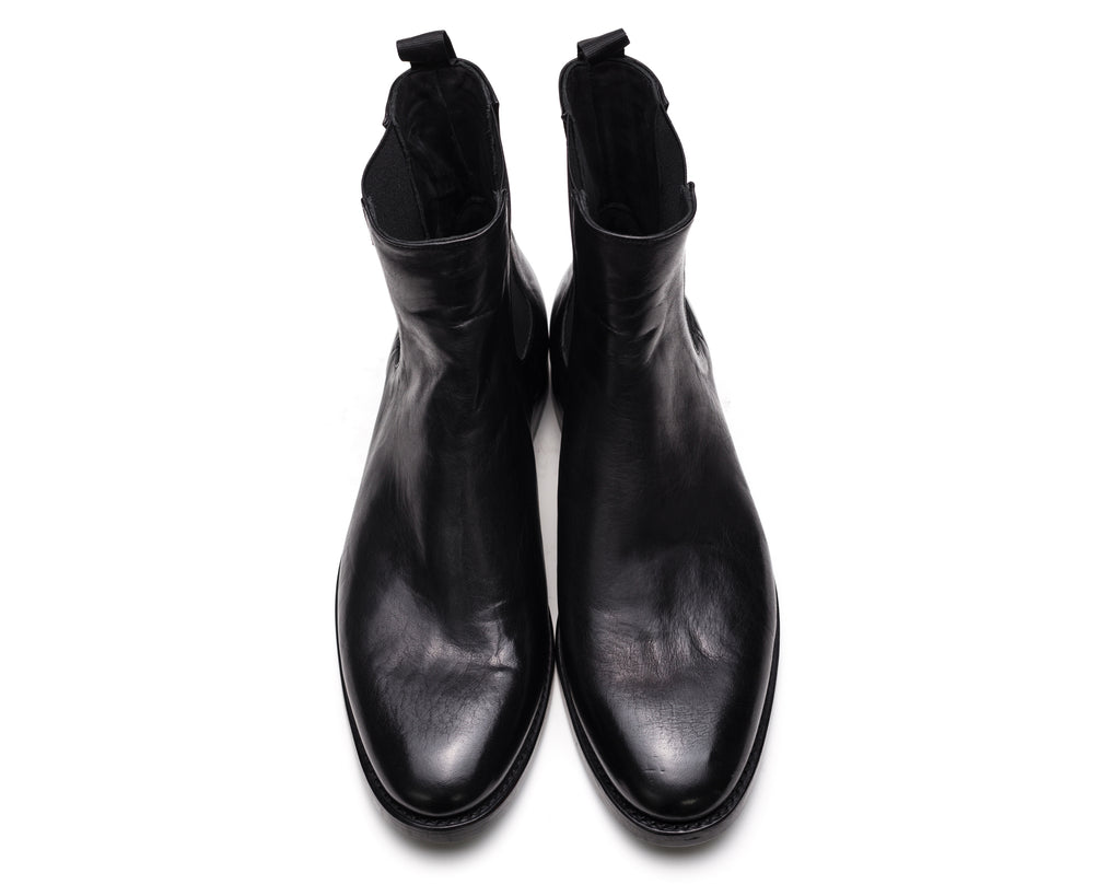 the last conspiracy SLOAN re waxed Chelsea Boot 001 Black