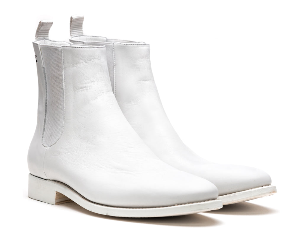 the last conspiracy SLOAN re waxed Chelsea Boot 036 White