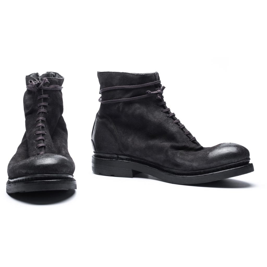 the last conspiracy SNE waxed suede Laced Boot 061 Charcoal