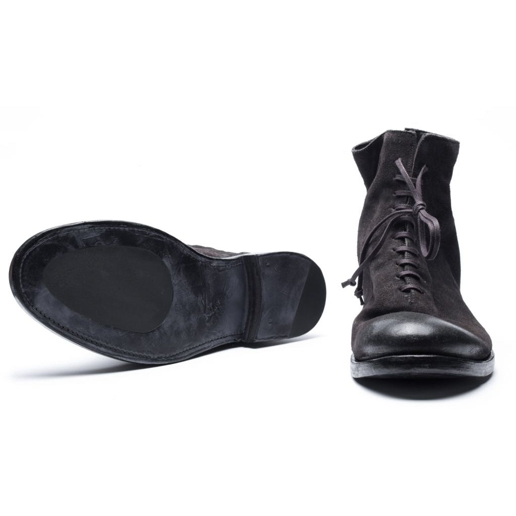 the last conspiracy SNE waxed suede american Laced Boot 001 Black