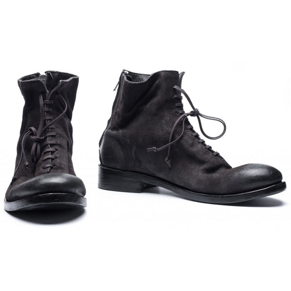 the last conspiracy SNE waxed suede american Laced Boot 061 Charcoal