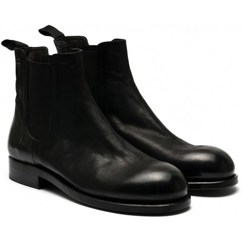 the last conspiracy SPENCER re waxed Chelsea Boot 001 Black