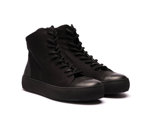 Hannes Roether x the last conspiracy SPRINT High Top Sneaker 001 Black