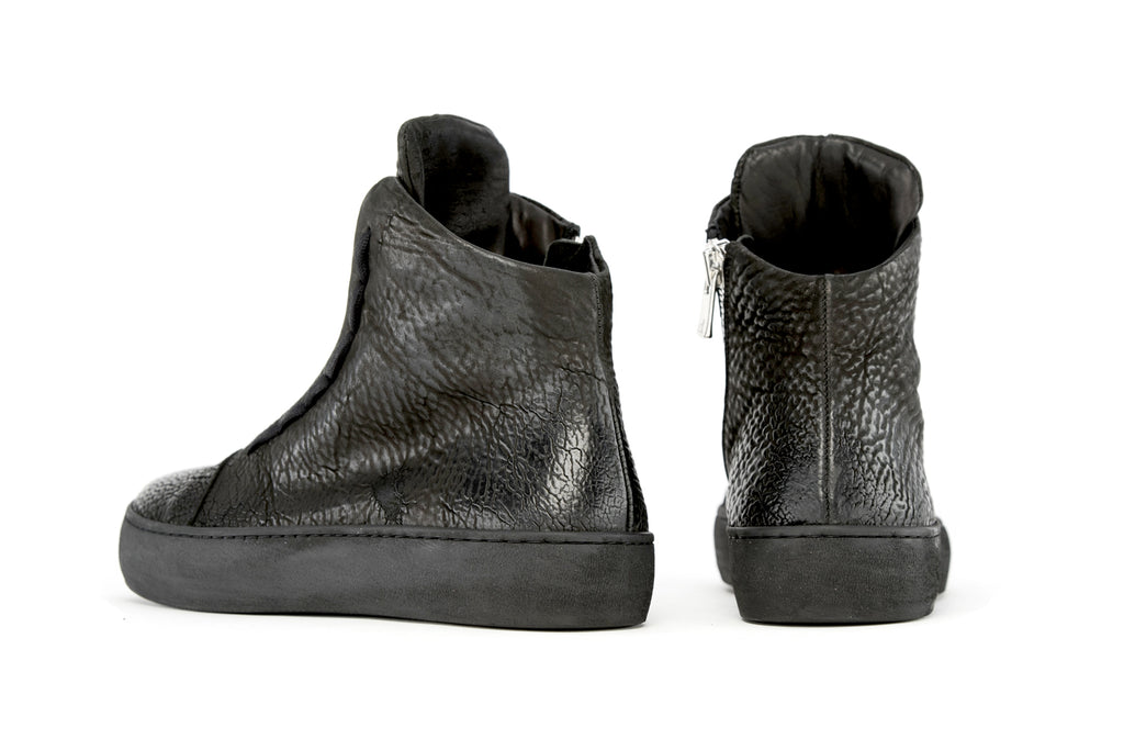 the last conspiracy x Isaac Sellam SYLVI reversed High Top Sneaker 001 Black