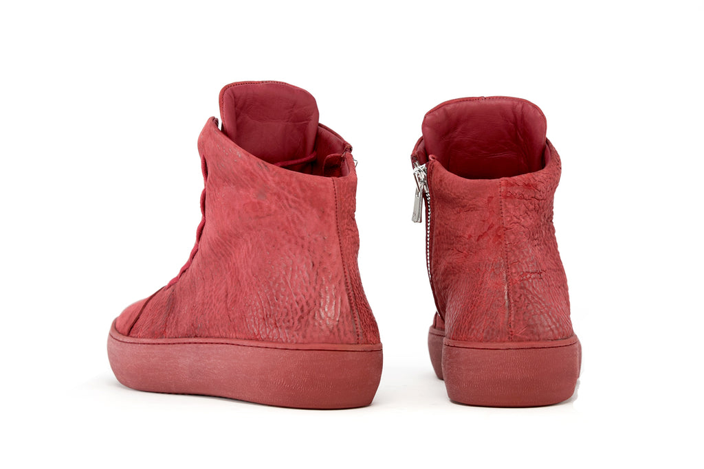 the last conspiracy x Isaac Sellam SYLVI reversed High Top Sneaker 048 Oxblood
