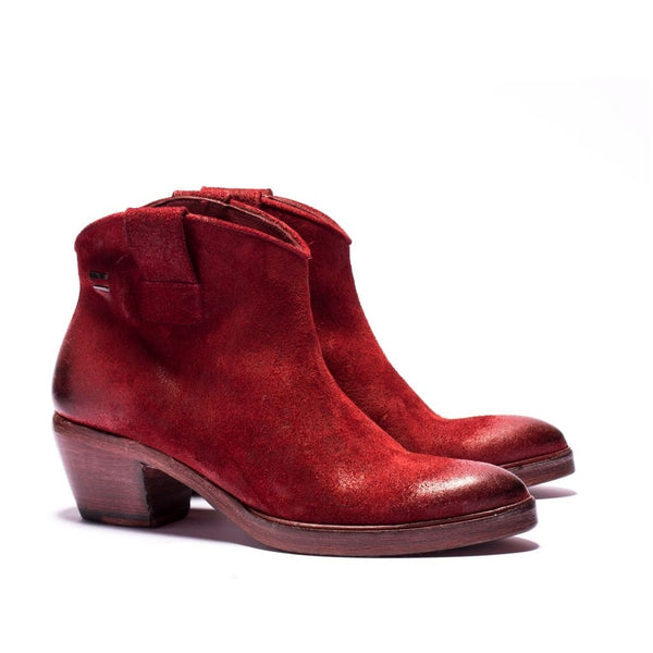 the last conspiracy TRINITY waxed suede Boot 048 Oxblood