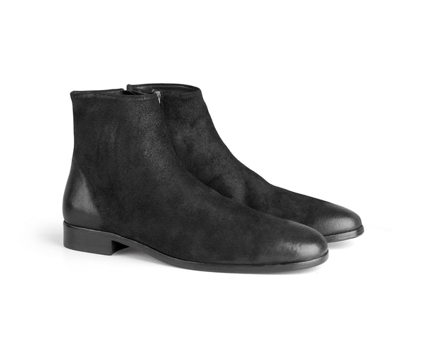 the last conspiracy UGO waxed suede Boot 001 Black