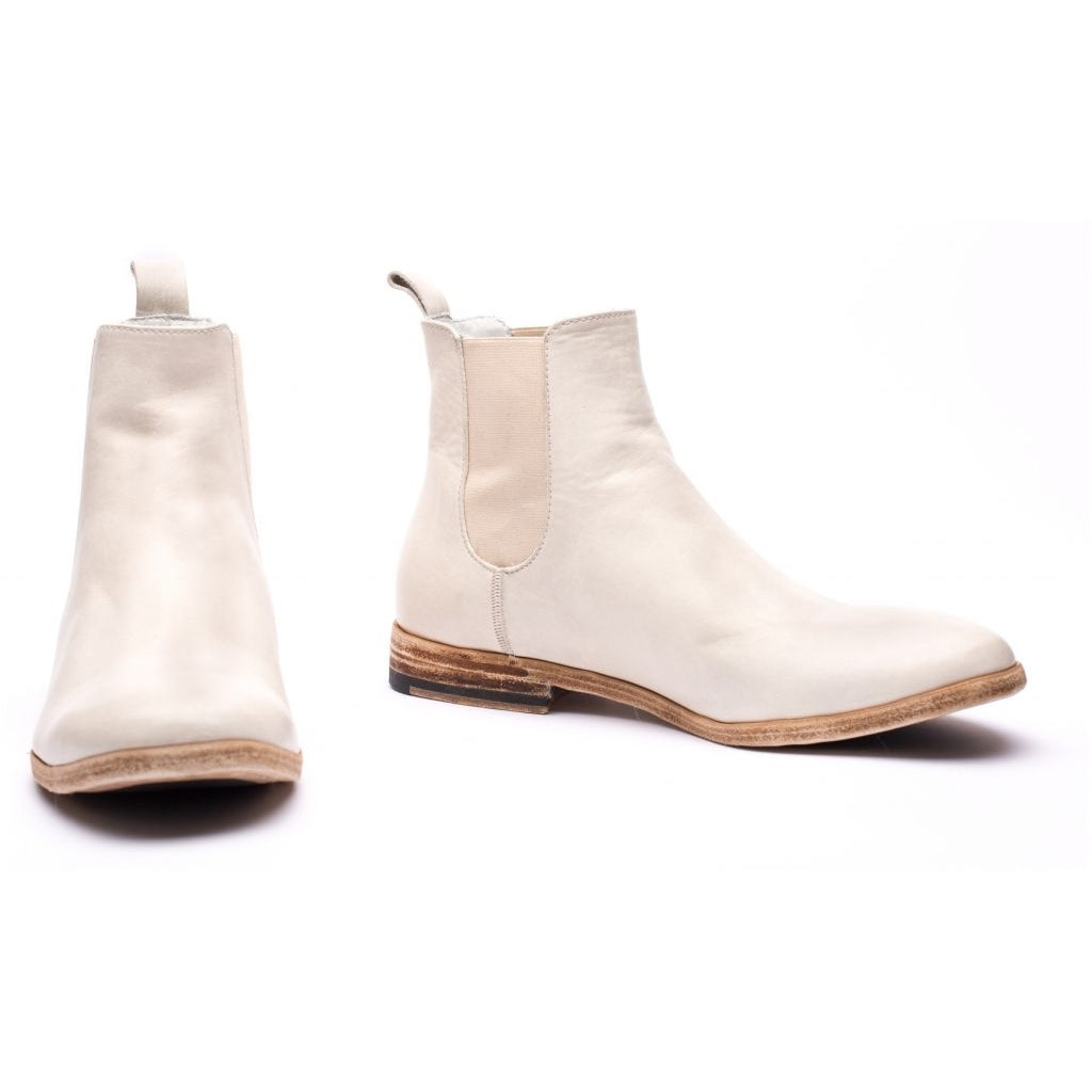 the last conspiracy VALARIA re waxed Chelsea Boot 036 White