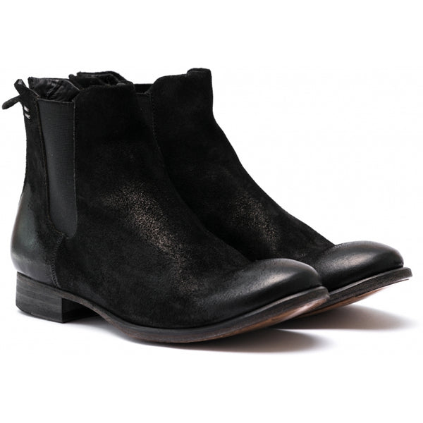 the last conspiracy VALARIA waxed suede Chelsea Boot 001 Black