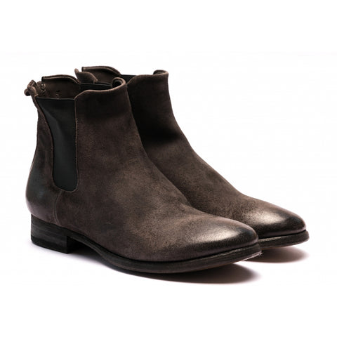 the last conspiracy VALARIA waxed suede Chelsea Boot 080 Mouse
