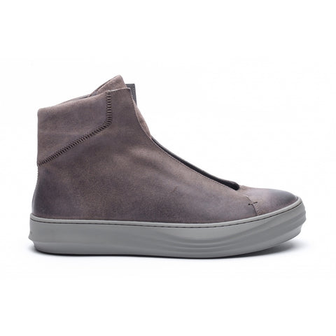the last conspiracy WALTER waxed suede High Top Sneaker 068 Dark Grey *new*