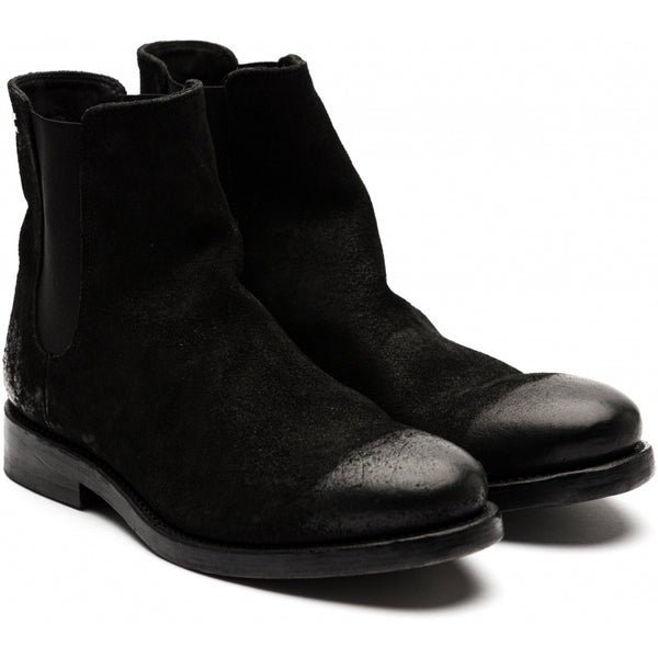 the last conspiracy WENDY waxed suede Chelsea Boot 001 Black