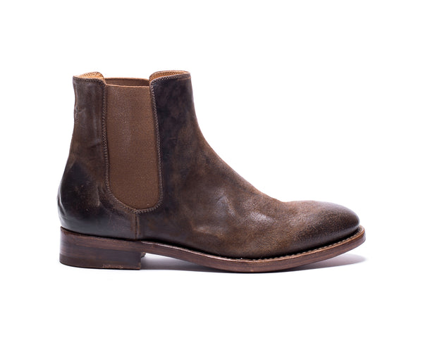the last conspiracy WENDY waxed suede Chelsea Boot 010 Tobacco