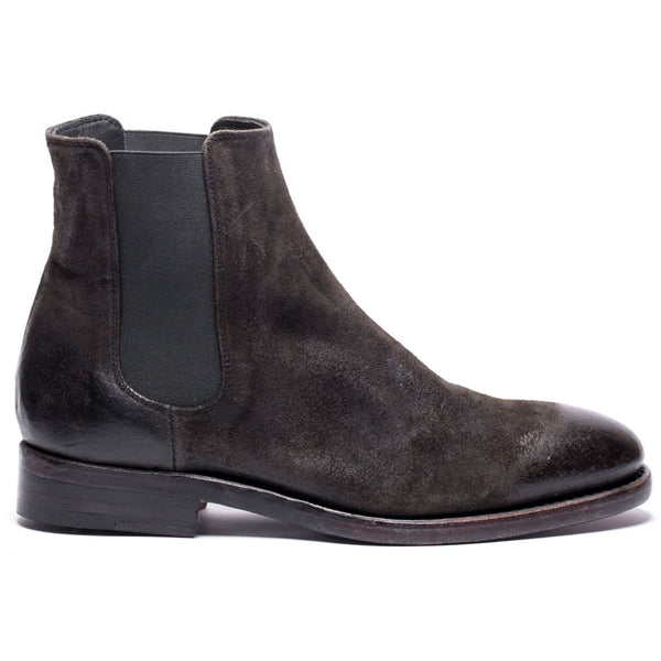 the last conspiracy WENDY waxed suede Chelsea Boot 061 Charcoal