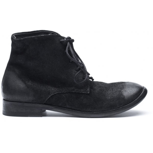the last conspiracy YUNA waxed suede Laced Boot 001 Black