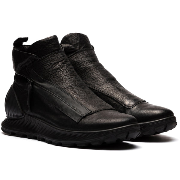 ECCO x the last conspiracy Aikori waxed bonded High Top Sneaker MW.1.11 black/black/black