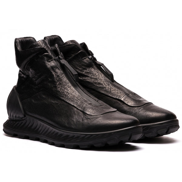 ECCO x the last conspiracy Satoshi waxed bonded High Top Sneaker MW.1.11 black/black/black
