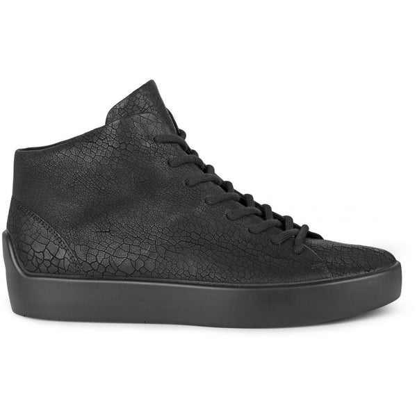 ECCO x the last conspiracy GUNNAR cracked High Top Sneaker 00111 black/black/black