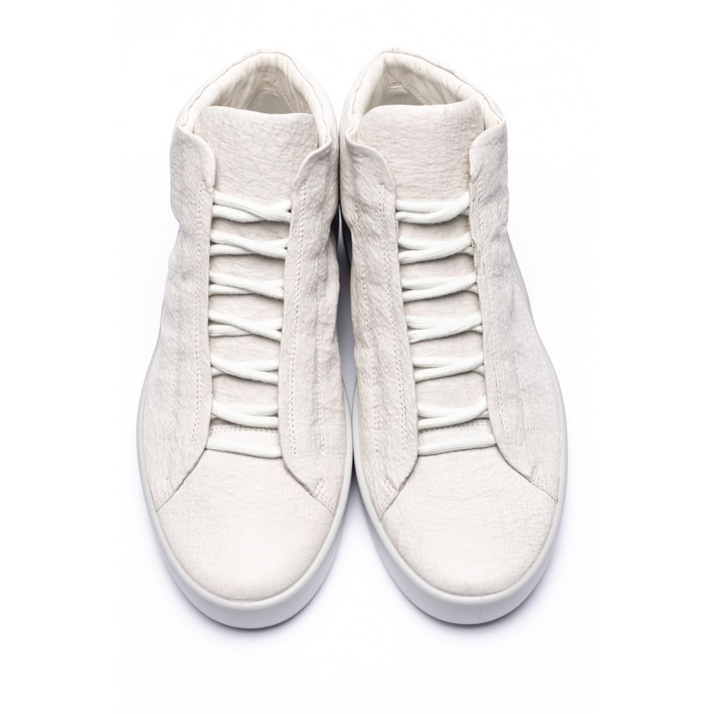 ECCO x the last conspiracy JERVIS waxed bonded Low Top Sneaker 7.379.2 white/concrete/bright white