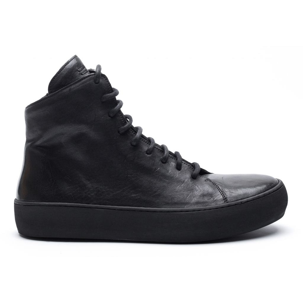 the last conspiracy OLLIE re waxed High Top Sneaker 301 Black/buffed sole