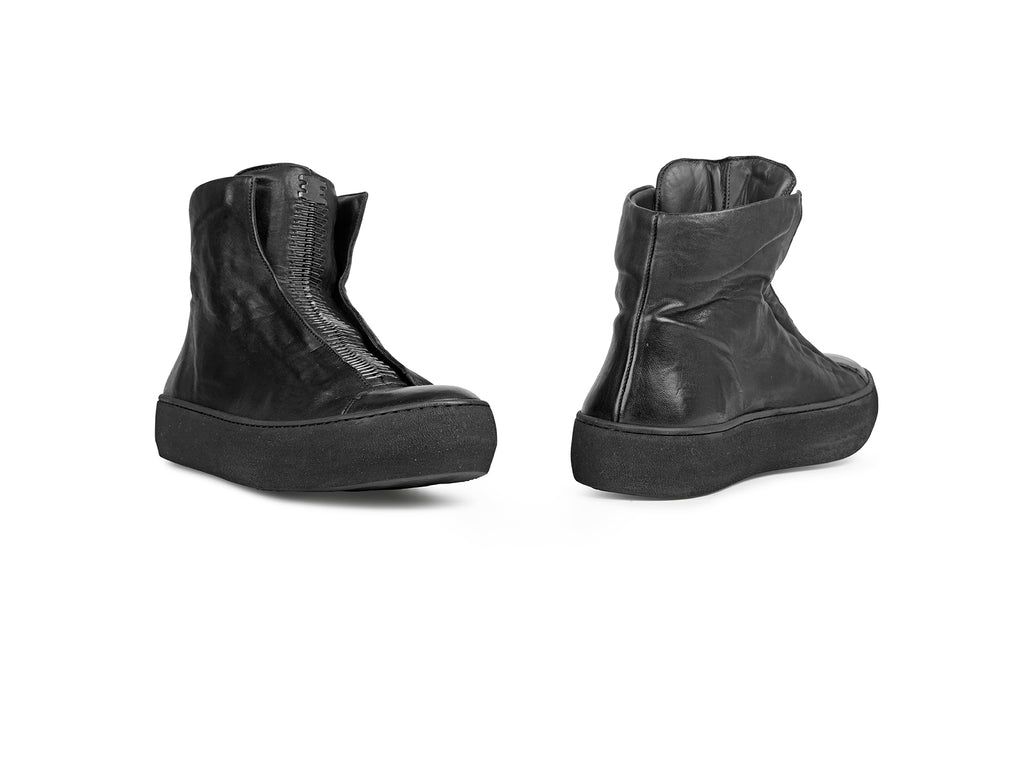 the last conspiracy x Isaac Sellam ROGER soft High Top 301 Black/buffed sole